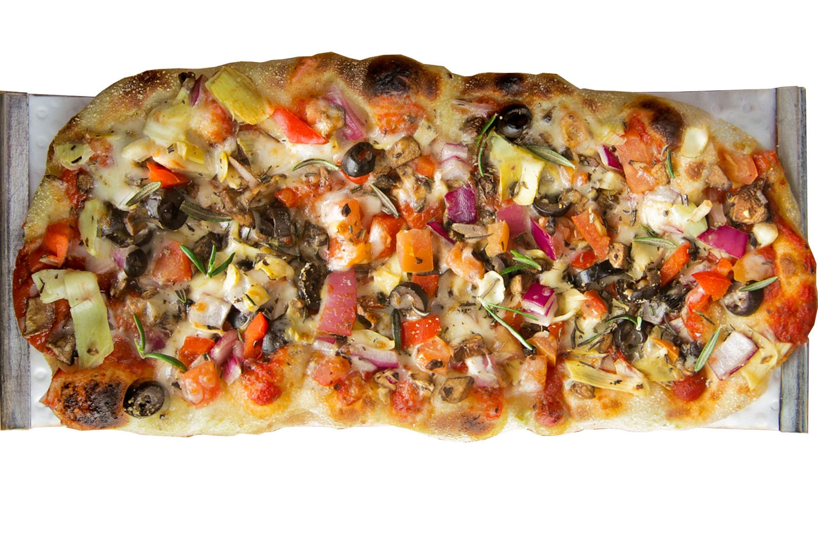 Crushed Red Fire Roasted Veggie Urban Crafted Pizza