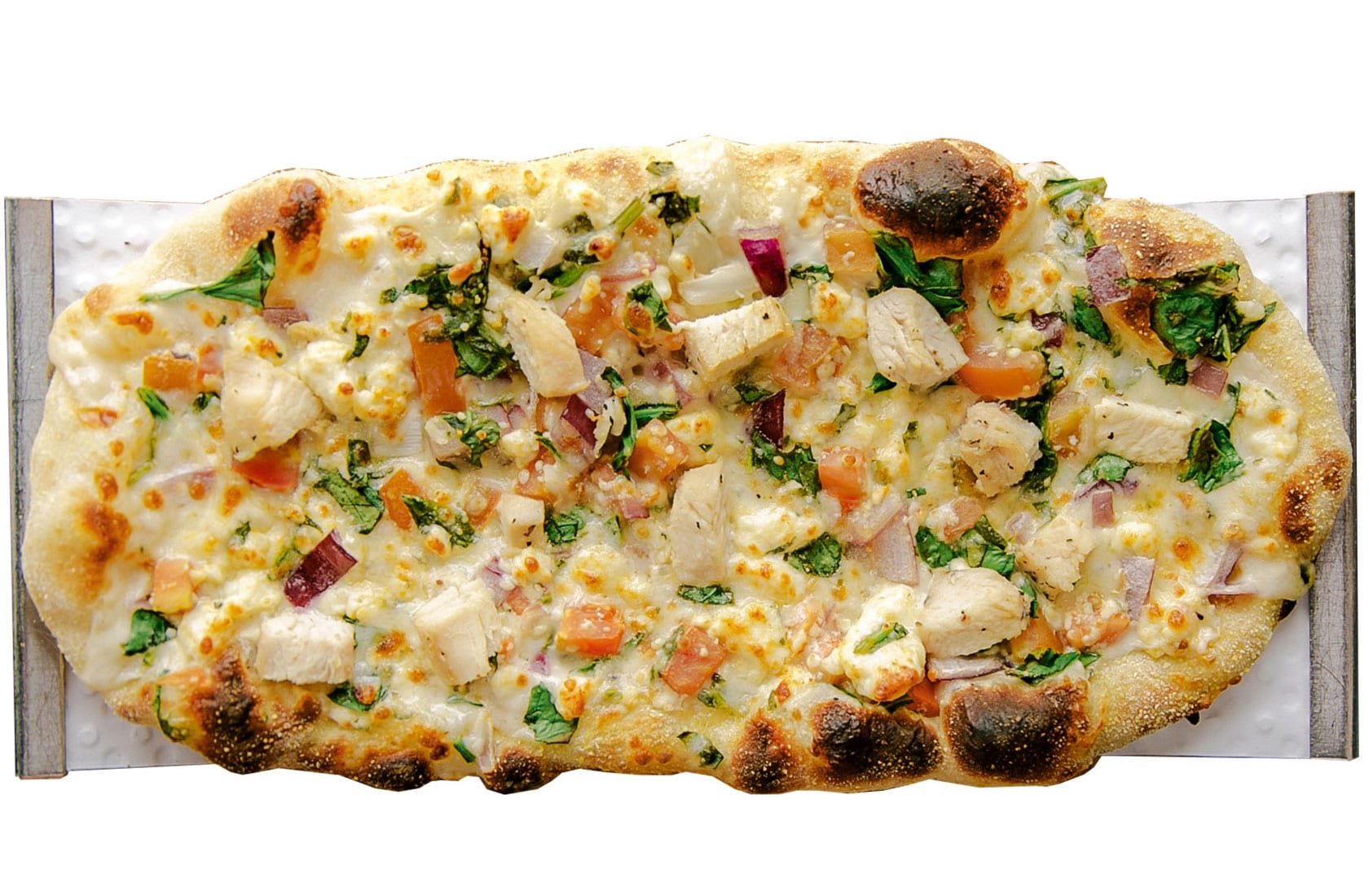 Crushed Red Roasted Chicken Gorgonzola Urban Crafted Pizza