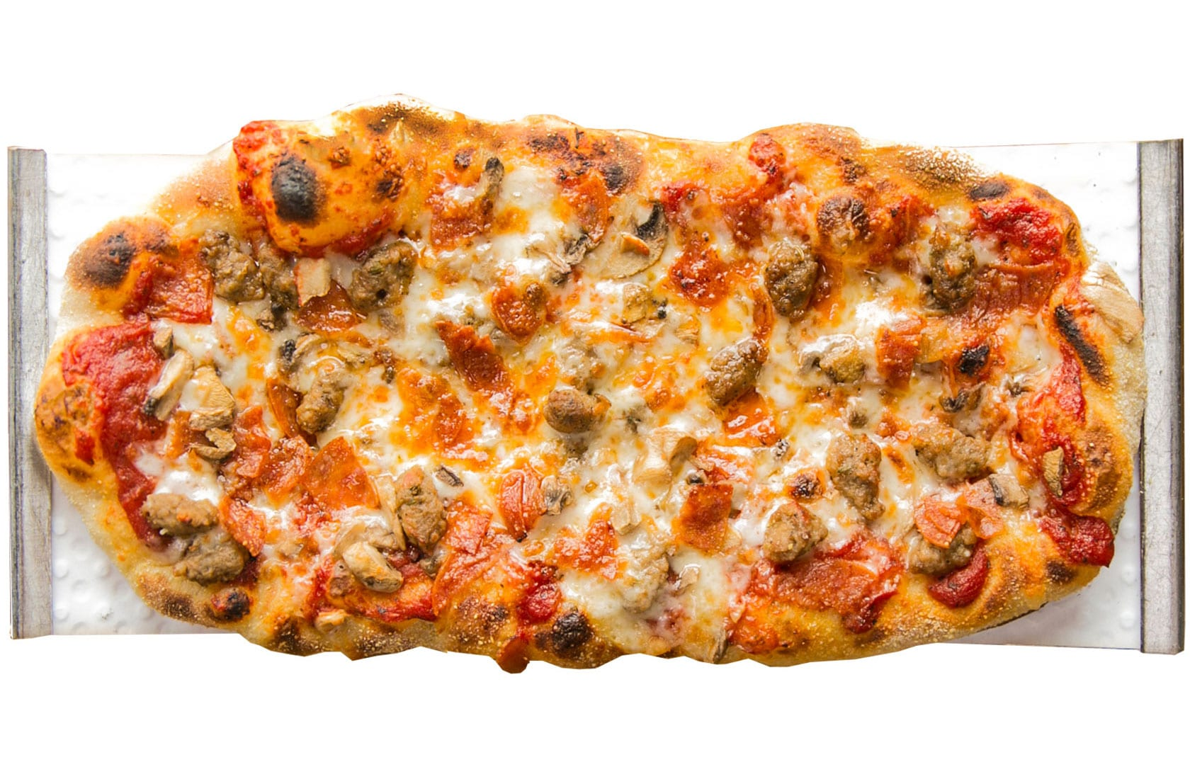 Crushed Red Sausage Pepperoni Mushroom Urban Crafted Pizza