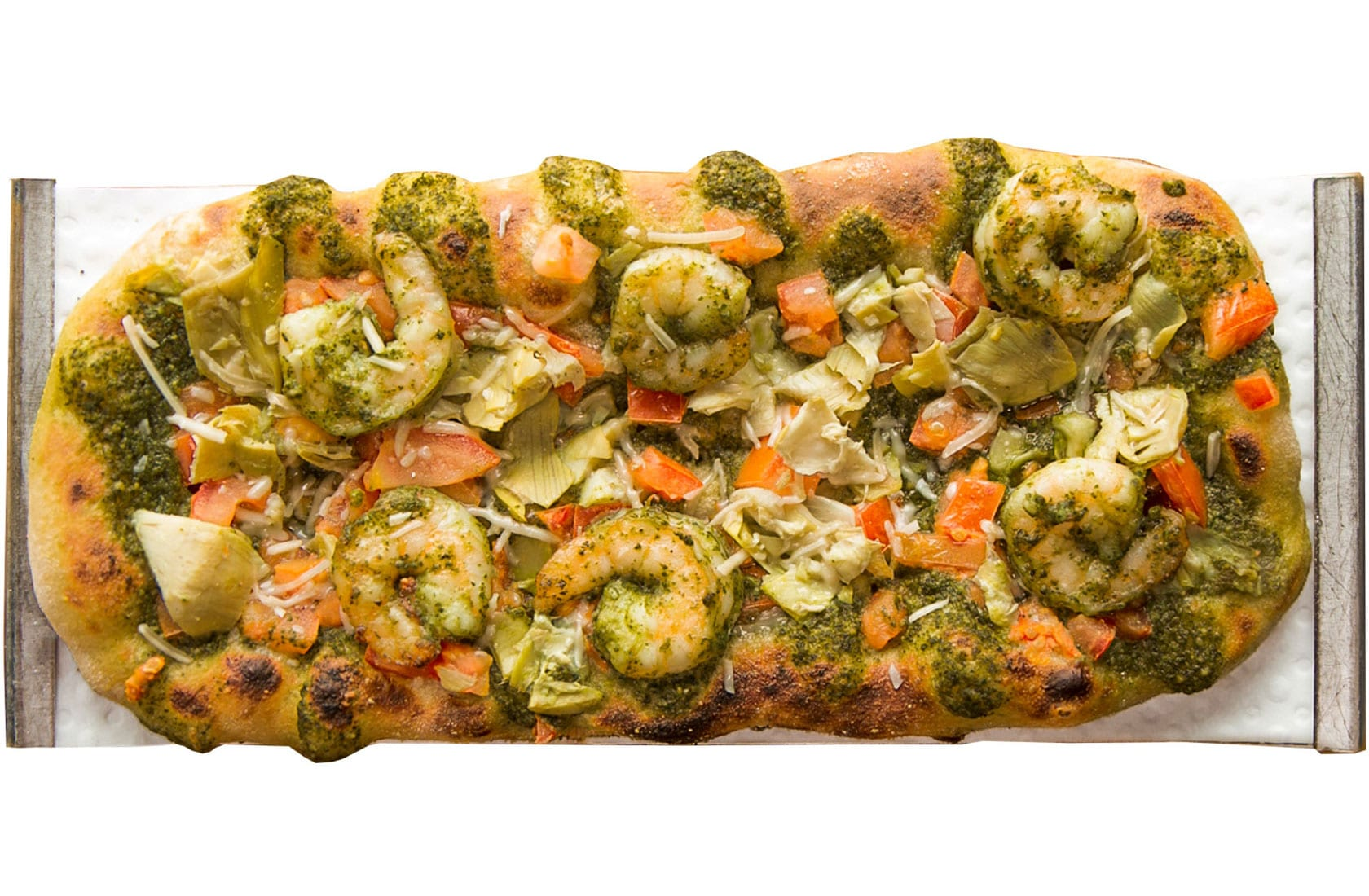 Crushed Red Shrimp Artichoke Urban Crafted Pizza